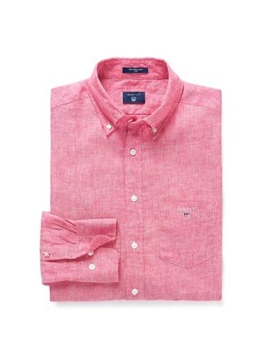 Gant Düz Slim Gömlek Pembe